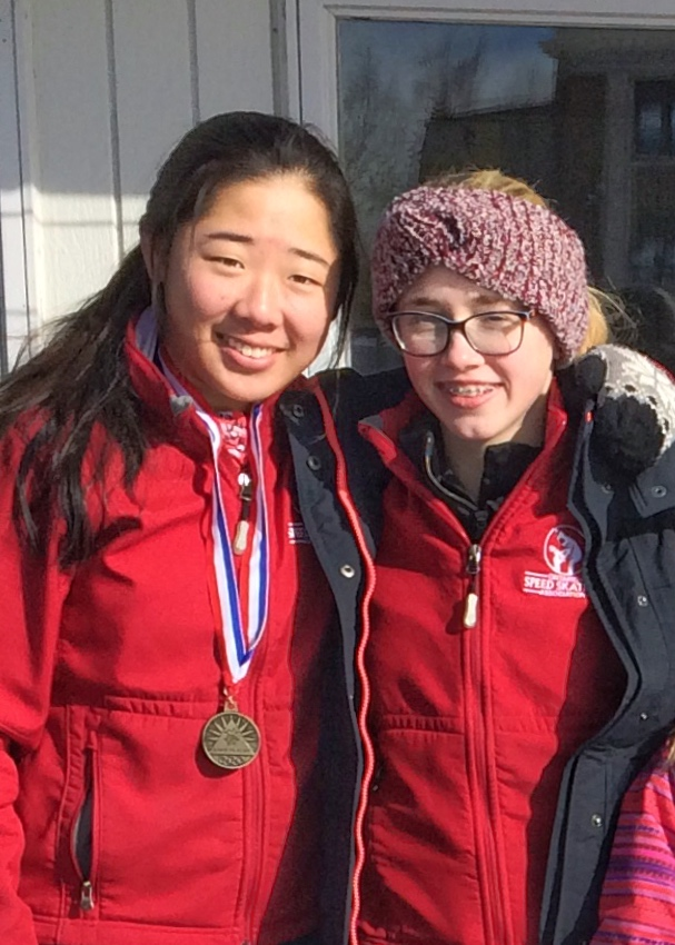Chloe and Emma in Lake Placid Jan 2016